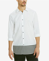 Kenneth Cole Reaction Men's Slim-Fit Hem-Striped Shirt