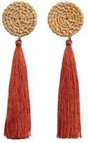 MANGO Fringe earrings