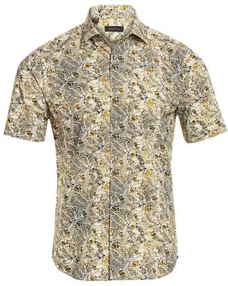 Saks Fifth Avenue Leaf-Print Cotton Shirt