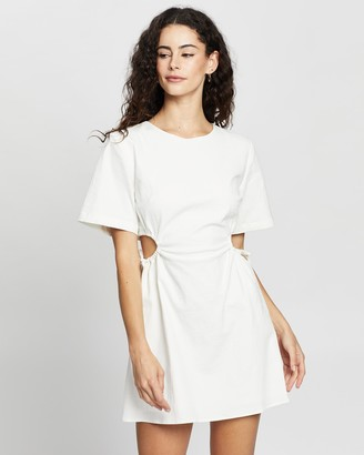 Third Form - Women's White Mini Dresses - Pressed Flowers Draw Side Tee Dress - Size One Size, 6 at The Iconic