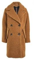 Topshop Women's Alicia Boucle Slouch Coat