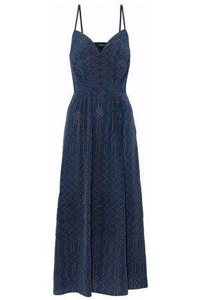 Derek Lam Tiered Printed Silk Midi Dress