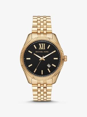Michael Kors Oversized Lexington Gold-Tone Watch
