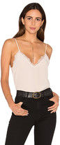 Anine Bing Silk Camisole with Lace Details in Beige. - size L (also in M,S,XS)