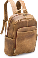 Le Donne Tan Distressed Renegade Leather Backpack