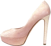 Christian Dior Pink Exotic leathers Heels