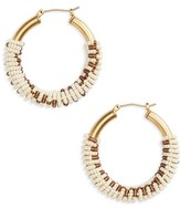 Madewell Women's Bead Wrapped Hoop Earrings