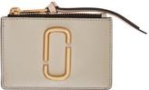 Marc Jacobs Beige and Pink Snapshot Top Zip Multi Wallet