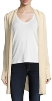 BCBGMAXAZRIA Cotton Ruched Cardigan