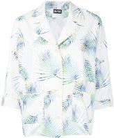Dalood - palm frond pyjama shirt - women - Silk/Polyester - 36