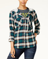 Polly & Esther Juniors' Plaid Hoodie