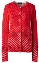 Classic Women's Supima Print Cardigan Sweater-Melon Breeze Soccer