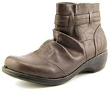 Easy Street Shoes Bootz Women Round Toe Leather Brown Ankle Boot.
