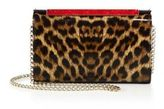Christian Louboutin Vanite Small Leopard Patent Leather Clutch