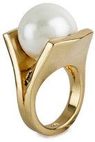 Lele Sadoughi Gold-Plated Pinball Ring, Size 7