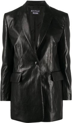 Boutique Moschino Single-Breasted Creased Blazer