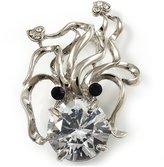 Avalaya CZ Octopus Crystal Brooch ( Tone)