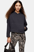 Topshop Cropped Boxy Hoodie