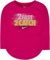 Nike Long-Sleeve 2 Fast 2 Catch Tee - Preschool Girls 4-6x