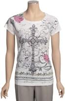 Roper Horse Burnout Sublimation Shirt - Short Sleeve (For Women)