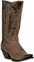 Dan Post Tan Embroidered Leather Cowboy Boot - Women