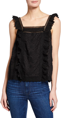 Frame Kate Sleeveless Lace Top