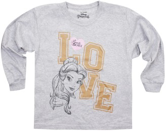 Disney Girl's Belle Love Long Sleeve Top