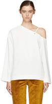 Nomia White Single-shoulder Blouse