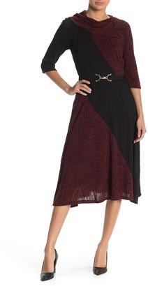 Robbie Bee Lace Trim Colorblock Dress