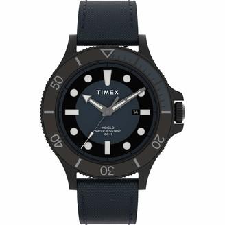 Timex Men's Allied Coastline 43mm Analog Quartz Leather Strap
