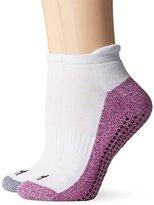 "Steve Madden Women's Low Cut Gripper ""Be Calm"" Yoga Sock 2-Pack"