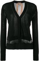 No.21 lace insert cardigan - women - Silk/Polyester/Acetate/Viscose - 42