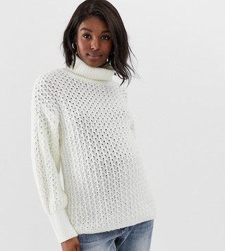 ASOS DESIGN Maternity stitch detail roll neck sweater