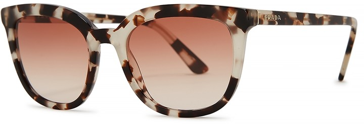 Prada Tortoiseshell Wayfarer-style Sunglasses