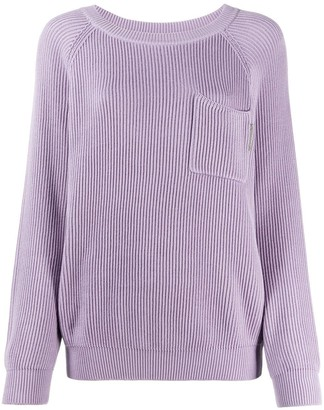Brunello Cucinelli Slouched Long-Sleeve Jumper