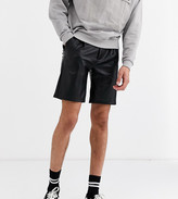 Asos Design DESIGN Tall slim shorts in faux leather