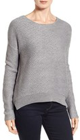 Caslon Relaxed Zigzag Stitch Sweater (Regular & Petite)
