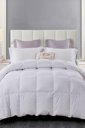 Blue Ridge Home Fashions Serta All Season Down 100% Cotton Comforter - King - White
