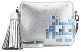 Anya Hindmarch Space Invaders Metallic Leather Cross-body Bag