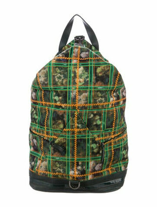 Jimmy Choo Leather-Trimmed Fitzroy Backpack Green