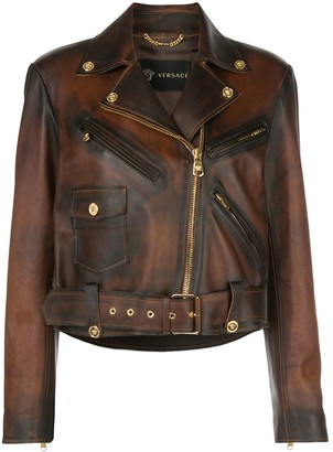 Versace Distressed Biker Jacket