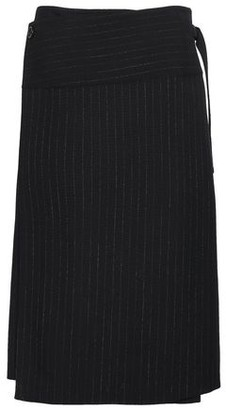 Joseph Pinstriped Wool Wrap Skirt