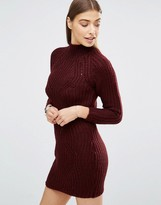 AX Paris High Neck Knitted Sweater Dress