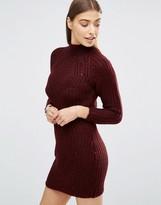 AX Paris High Neck Knitted Sweater Dress