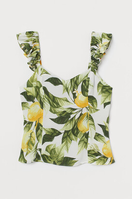 H&M Ruffle-trimmed Top