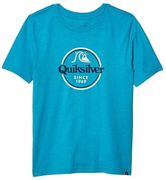 Quiksilver Words Remain (Big Kids) (Caribbean Sea) Boy's T Shirt