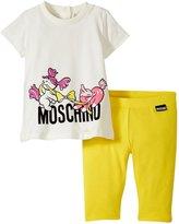 Moschino Leggings Set (Baby) - White/Yellow - 3/6 Months