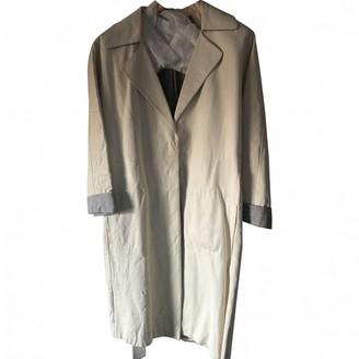 Brunello Cucinelli Ecru Leather Trench Coat for Women