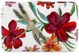 Judith Leiber Couture Seamless Hibiscus Crystal Clutch Bag