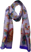 "aboutyou Butterfly Print Fashion Women Wrap Pure Silk Scarf Rectangle Scarves 70"" x 20"" Inches"